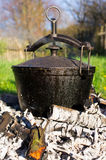 Kettle on fire Royalty Free Stock Photography