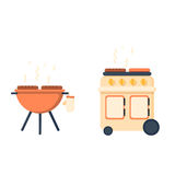 Kettle grill and barbecue Stock Image