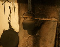 Kettle On Hearth Bunratty Village Ireland Stock Images