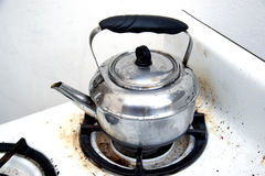 Kettle of hot water Royalty Free Stock Images