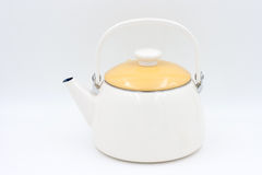 Kettle isolated on a white background stock photo