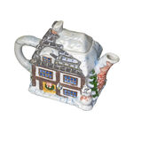 Kettle. Maker of handmade. Decorated as a winter home Stock Photography