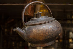 Kettle for making drinks on an open fire Royalty Free Stock Image