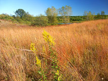 Kettle Moraine Prairie Landscape Wisconsin. Beautiful hillside prairie of the Kettle Moraine State Forest in Wisconsin stock image