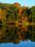 Kettle Moraine - Wisconsin. Beautiful fall colors reflect off a pond at Kettle Moraine State Forest in Wisconsin stock photos