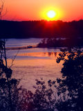 Kettle Moraine Wisconsin Sunset Royalty Free Stock Photography