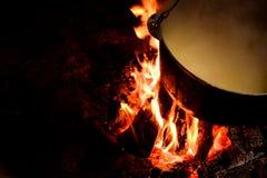 Kettle of porridge Stock Images
