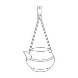 Kettle on a rope for washing Royalty Free Stock Image