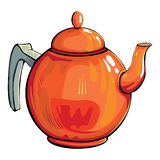 Kettle teapot. Single colorful kettle teapot on white Stock Photography