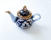kettle of Uzbek cotton ornament Stock Images