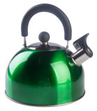 Kettle with whistle on a background. Royalty Free Stock Image
