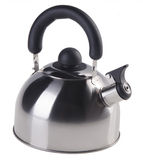 Kettle with whistle on a white background Stock Images