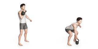 Kettlebell övning Arkivbild