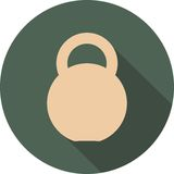 Kettlebell circle icon Stock Photos