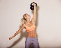 Kettlebell Crossfit Workout Royalty Free Stock Image