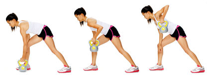 Kettlebell dumbell exercise Stock Images