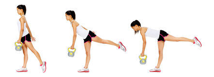 Kettlebell dumbell exercise Royalty Free Stock Photography