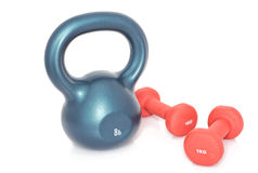 Kettlebell and dumbells Stock Photo