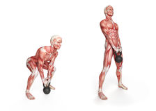 Kettlebell exercise Royalty Free Stock Photography