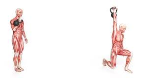 Kettlebell exercise Stock Image