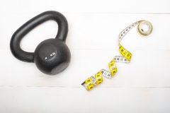 Kettlebell fitness Stock Photography