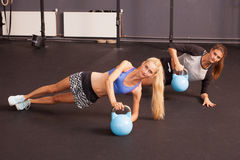 Kettlebell fitness training woman Royalty Free Stock Photos