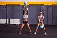 Kettlebell fitness training woman Stock Image