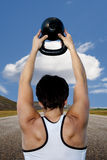Kettlebell Girl Royalty Free Stock Photography