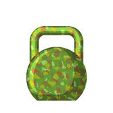 Kettlebell green camouflage military. Gift for men 23 February. Royalty Free Stock Photos