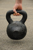 Kettlebell of the ground Royalty Free Stock Photography