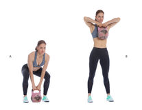 Kettlebell high pull Royalty Free Stock Photos