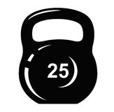 Kettlebell icon Royalty Free Stock Images