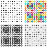 100 kettlebell icons set vector variant. 100 kettlebell icons set vector in 4 variant for any web design isolated on white Royalty Free Stock Photography