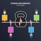 Kettlebell infographic Lizenzfreie Stockfotografie