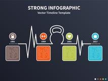 Kettlebell infographic Fotografie Stock