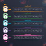 Kettlebell infographic, cronologia immagine stock
