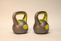 Kettlebell. / Inscription on the weighing problem: 4 kg stock illustration