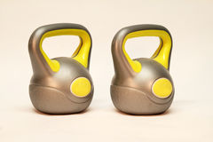 Kettlebell. / Inscription on the weighing problem: 4 kg royalty free illustration