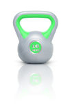 Kettlebell 16 kg. Kettlebell with reflection, white background Royalty Free Stock Photography