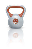 Kettlebell 18 kg. Kettlebell with reflection, white background Royalty Free Stock Images