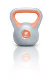 Kettlebell 8 kg. Kettlebell with reflection, white background Royalty Free Stock Image