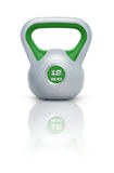 Kettlebell 12 kg. Kettlebell with reflection, white background Stock Photos