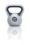 Kettlebell 20 kg. Kettlebell with reflection, white background Stock Image