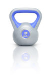 Kettlebell 3 kg. Kettlebell with reflection, white background Stock Photos