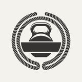 Kettlebell logo Stock Photo