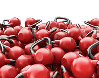 Kettlebell pile Royalty Free Stock Photos