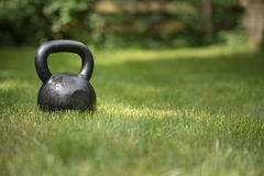 Kettlebell preto Fotos de Stock Royalty Free