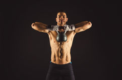 Kettlebell pull Royalty Free Stock Images