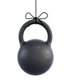 Kettlebell on a rope. 3d. Stock Image