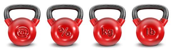 Kettlebell-Symbole Stockfotos